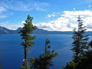 Blue water of the Crater Lake