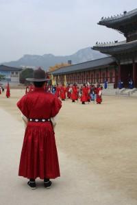 Guard at the Gyeongbokgung Palace