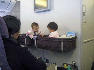 Little kids in Korean Air flight