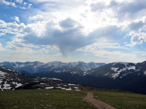 Trail head at Rocky Mountain