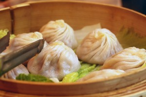 Xiao long bao (soup dumpling) at Joe's Shanghai