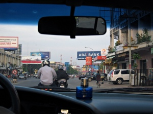 Driving through Phnom Penh