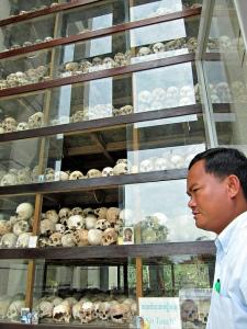 Mr. Chanteng and the Memorial Stupa