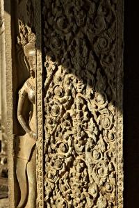 Apsara behind the wall