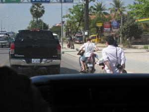 Hired motorbikes