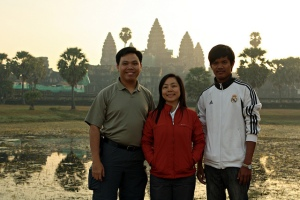 New Year's morning at Angkor Wat