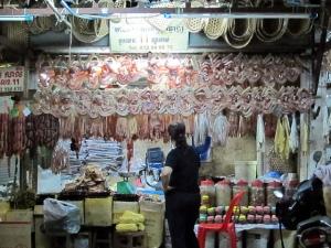 Sausage links and dried seafood