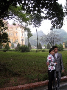 Couple at the Palace