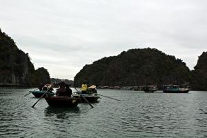 Boat ride through village