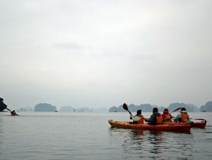 Kayaking at Ha Long Bay