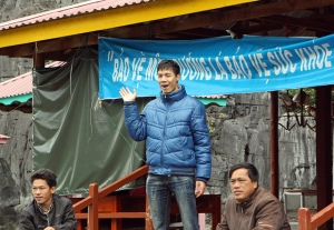 Visit with village mayor