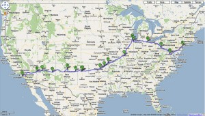 Coast to coast route