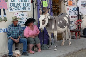 Shopkeepers and the burros