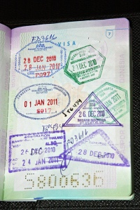 Stamps on passport