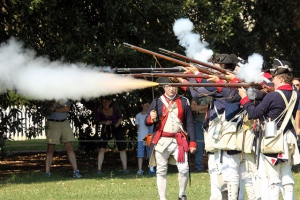 Muskets firing